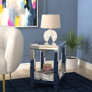 Inexpensive Lavanna Mirror End Table by House of Hampton