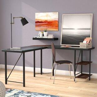 Denby Glass L-Shape Computer Desk by Ebern Designs
