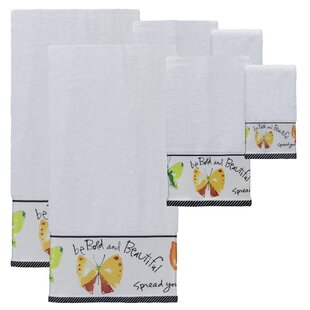 Herzberg Print 6 Piece 100% Cotton Towel Set