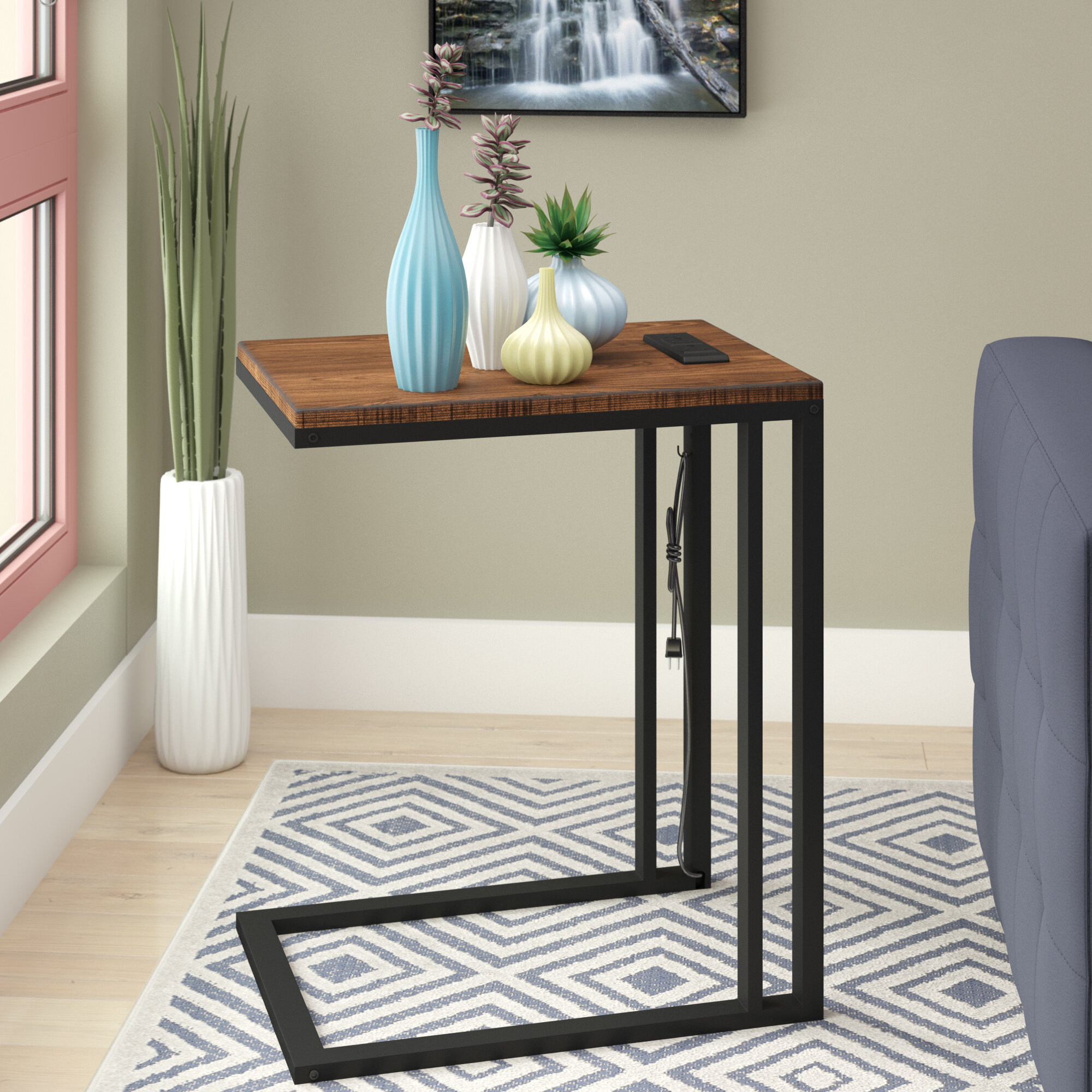 Ebern Designs Blankenship C Table With Charging Station Reviews