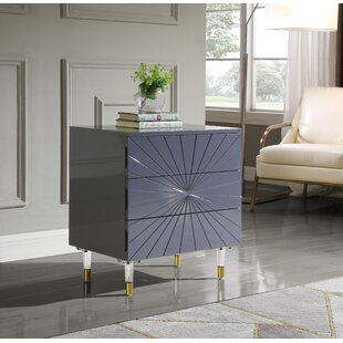 Tim 3 Drawer Nightstand by Everly Quinn