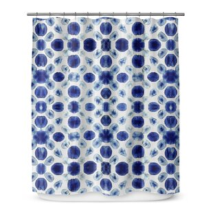 Shibori Circle Single Shower Curtain