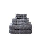 Nautica Oceane Solid Cotton Navy 6 Piece Towel Set