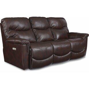 Real Leather Recliner Sofa   Wayfair