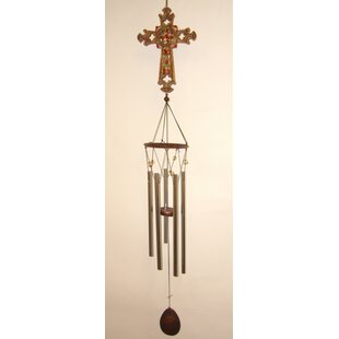 Cross Large Top Poly Wind Chime by Great World Company