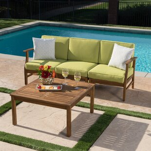 Wrought Studio Fassett Outdoor 2 Piece Sofa Set with Cushions