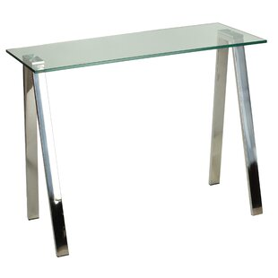 Sefield Glass Top Desk by Orren Ellis Bargain