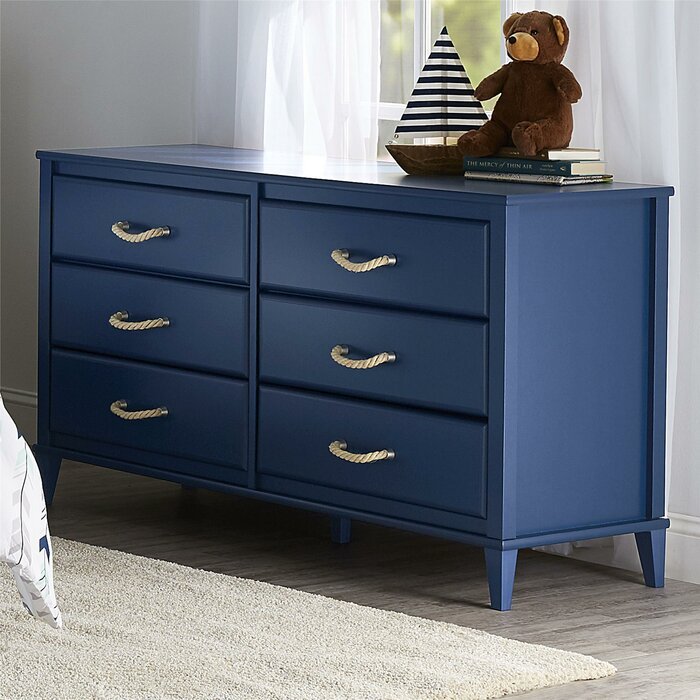 Sierra Ridge 6 Drawer Double Dresser