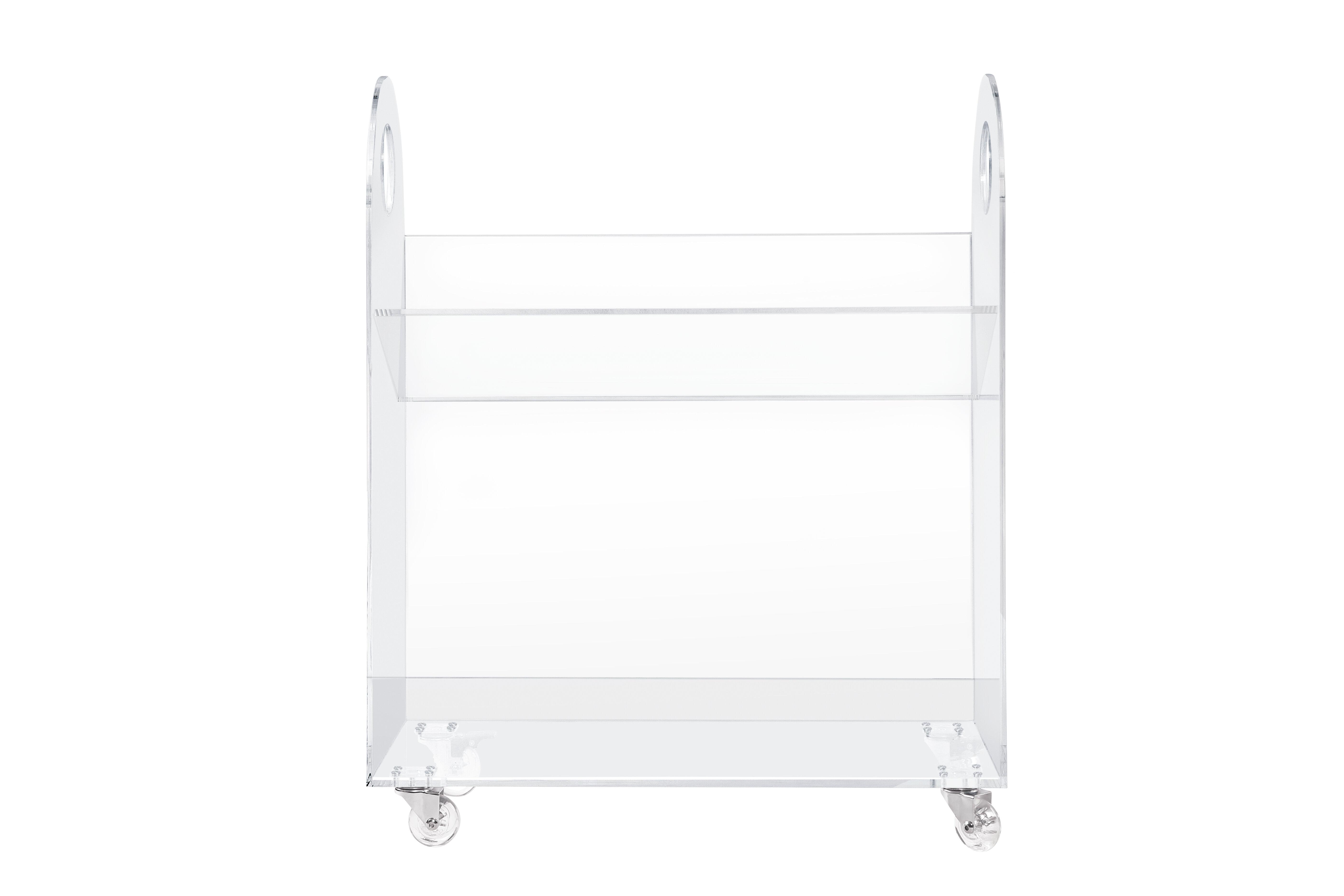 Presto Acrylic 26 Bookcase And Cart