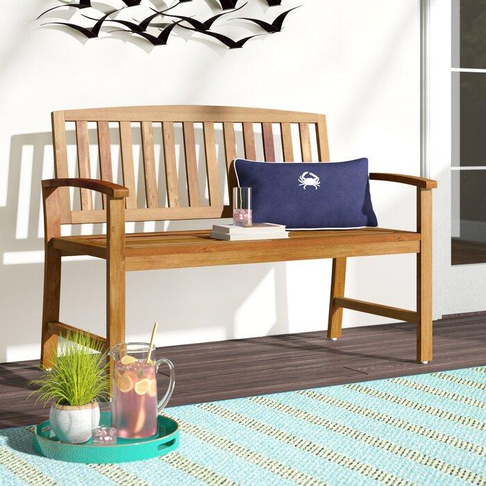 Superb Leora Wooden Garden Bench Machost Co Dining Chair Design Ideas Machostcouk