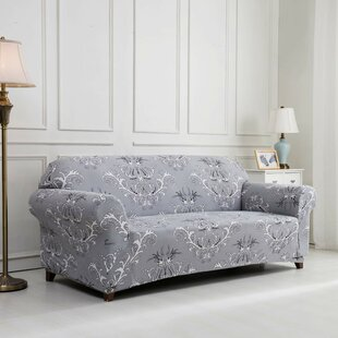 Inexpensive Printed Floral Box Cushion Sofa Slipcover by House of Hampton Reviews (2019) & Buyer's Guide