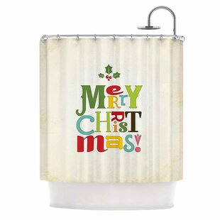 Merry Christmas Single Shower Curtain