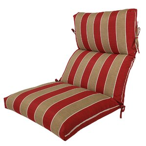 Channeled Reversible Outdoor Lounge Chair Cushion Part 51