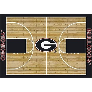 Affordable NCAA College Home Court Georgia Novelty Rug ByMy Team by Milliken