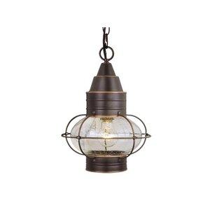Best Reviews Bonaventure 1-Light Outdoor Hanging lantern By Beachcrest Home