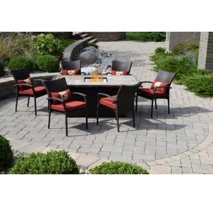 Skipworth 7 Piece Dining Set by Darby Home Co Comparison