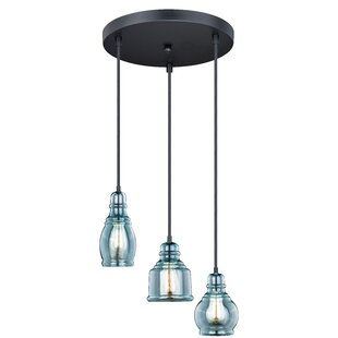 Pickett 3-Light Cluster Pendant by Bungalow Rose