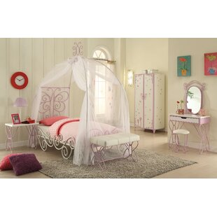 Northington Twin Canopy Bed  sc 1 st  Wayfair & Girls Princess Canopy Bed | Wayfair