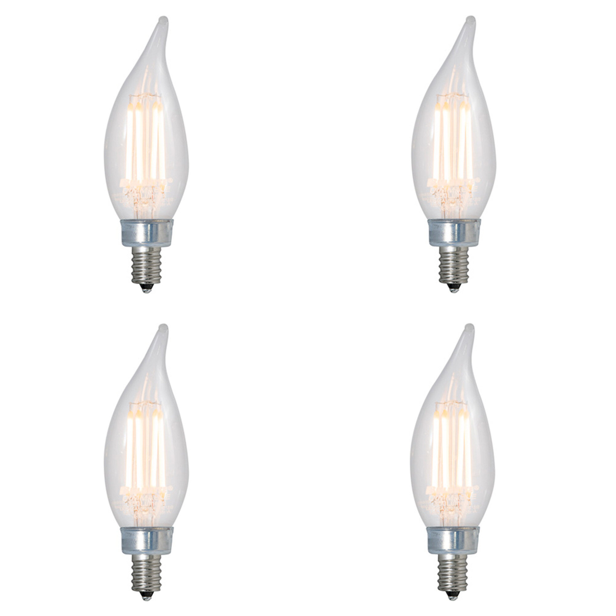 Bulbrite Industries 40 Watt Equivalent Ca10 Led Dimmable Light Bulb 2700k E12 Candelabra Base Reviews Wayfair