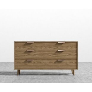 Jake 6 Drawer Double Dresser