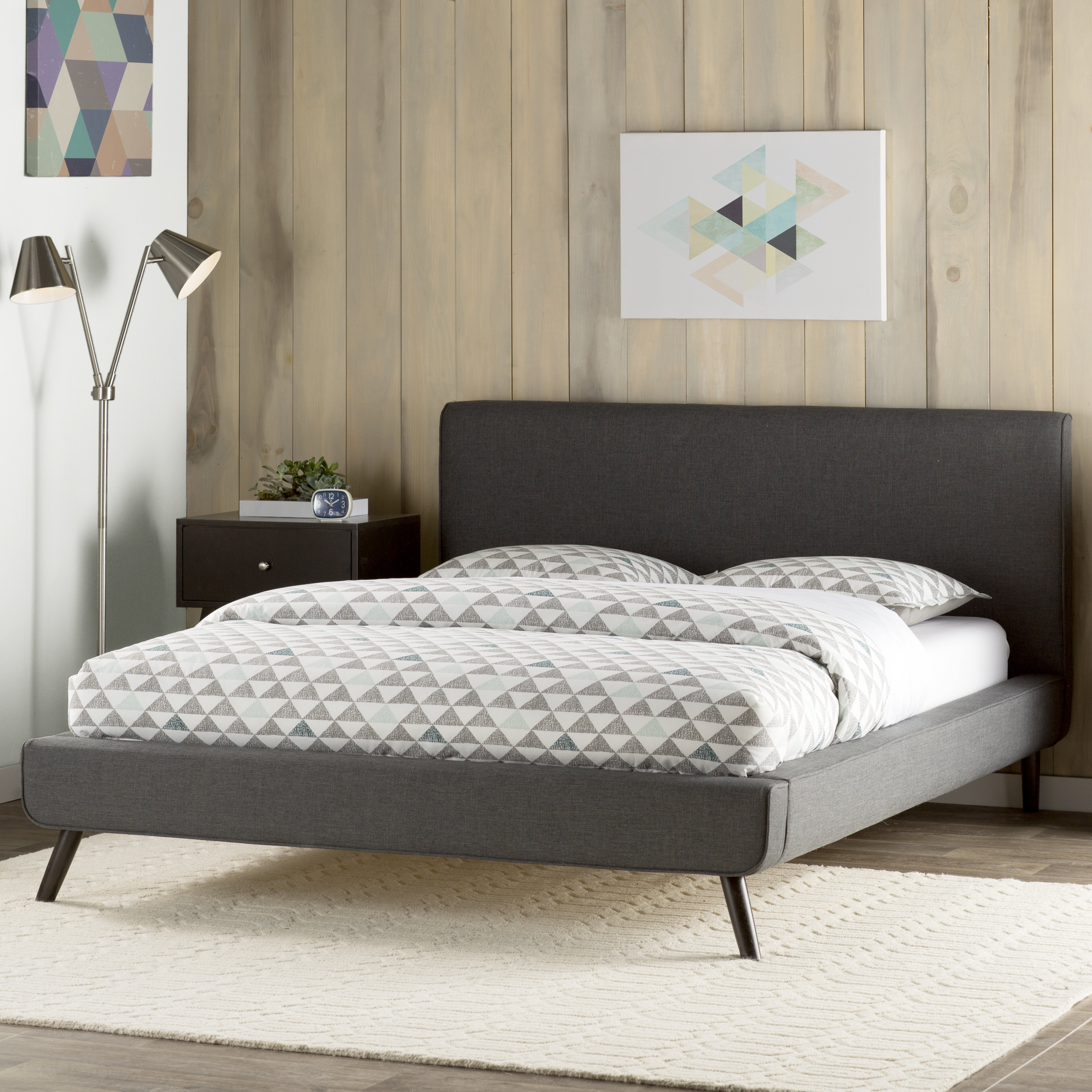 Mercury Row Delve Upholstered Platform Bed