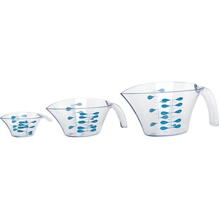 Markings 3-Piece Plastic Measuring Cup Set By Trudeau