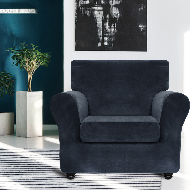 Mercer41 Box Cushion Armchair Slipcover Reviews Wayfair