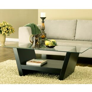 Donegan Contemporary Glass Coffee Table by Latitude Run