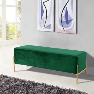 84cbf777aacbb Emerald Green Velvet Bench