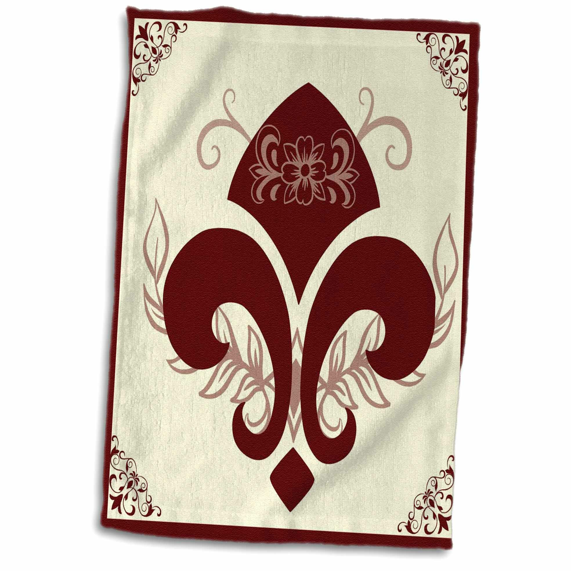 East Urban Home Grossman Fleur De Lis French Décor Hand Towel Wayfair