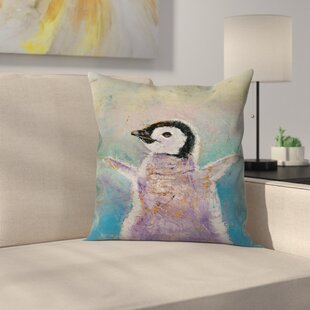 Michael Creese Baby Penguin Throw Pillow
