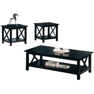 Loon Peak Delancey Wooden 3 Piece Coffee Table Set