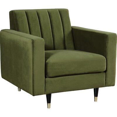 Brayden Studio Conn Club Chair Upholstery: Olive