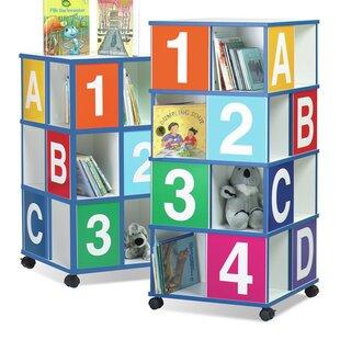 3Tier ABC123 40 Book Cart