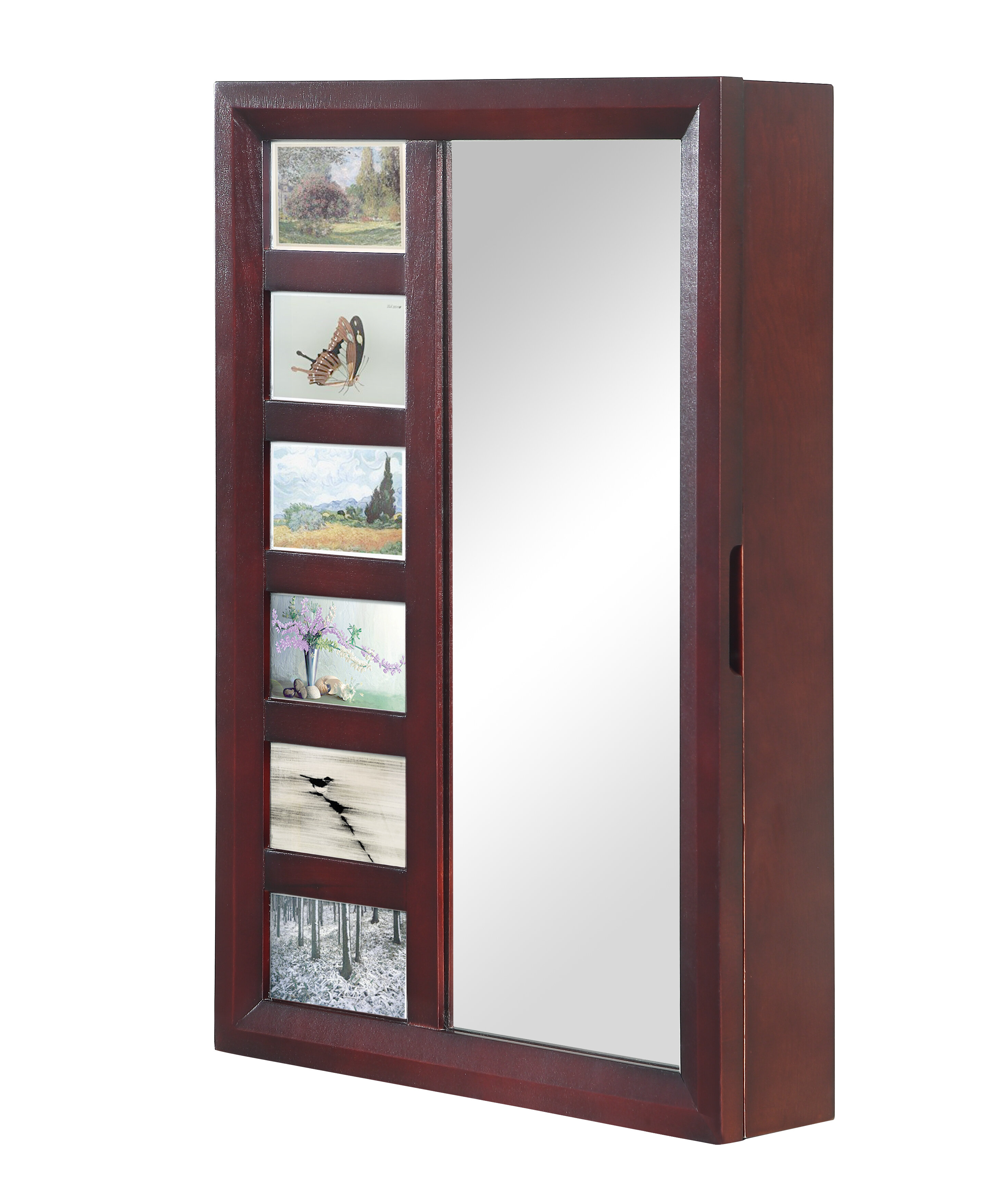 Image of: Tessa Wall Mounted Jewelry Armoire With Mirror Reviews Birch Lane
