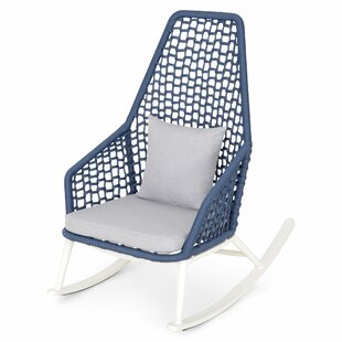 St Tropez Rocking Chair With Cushions By Longshore Tides