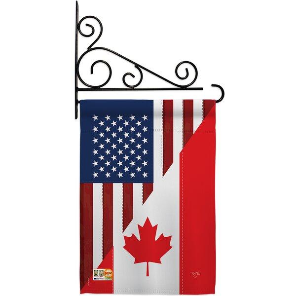 Breeze Decor Us Canada Friendship 2 Sided Polyester 19 X 13 In Flag Set Wayfair
