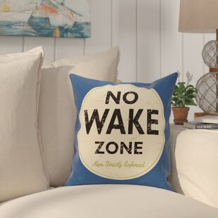 Golden Beach Nap Zone Word Throw Pillow