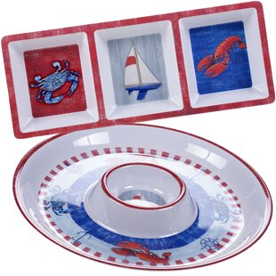 Maritime Melamine 2 Piece Serving Dish Set