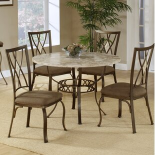 Brookside Stone Top Round Dining Table by Red Barrel Studio
