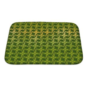 Simple Ornament of Stylized Leaf Clover Bath Rug