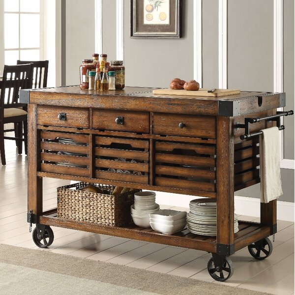 Belfield Wood Metal Kitchen Cart