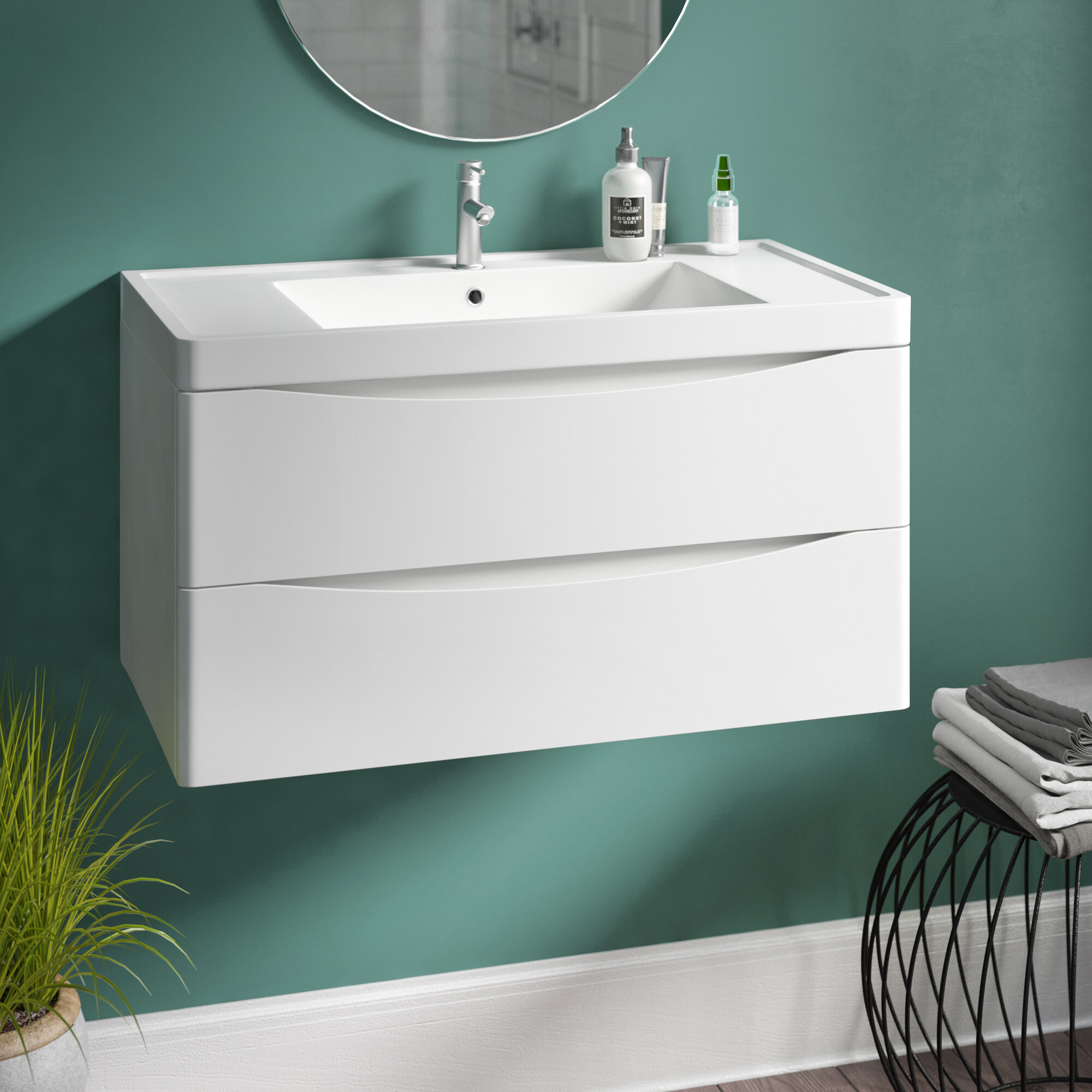 Stanhope 900mm Wall Mount Vanity Unit