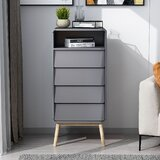 Chul 4 - Drawer Nightstand in Gray by George Oliver