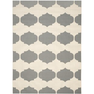 Short Beige/Anthracite Contemporary Rug By Winston Porter