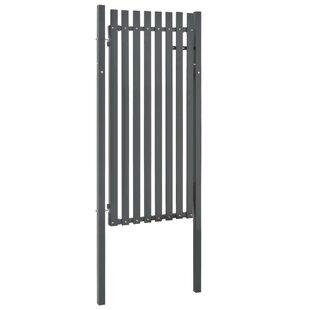 Adamsburg Fence 3' X 6' (1.03m X 1.95m) Metal Gate By Sol 72 Outdoor