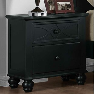 Pagoda 2 Drawer Nightstand by DarHome Co
