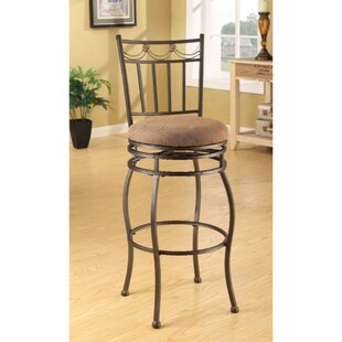 Bascomb Swivel Bar Stool (Set of 2) Fleur De Lis Living