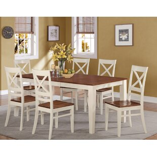 Loraine 7 Piece Extendable Solid Wood Dining Set