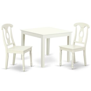 Lambdin 3 Piece Solid Wood Dining Set